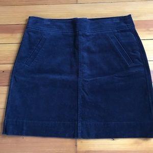 Navy Blue Corduroy LOFT Skirt Size 6